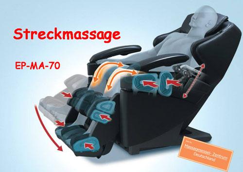 EP-MA-70 Massagesessel Streckmassage