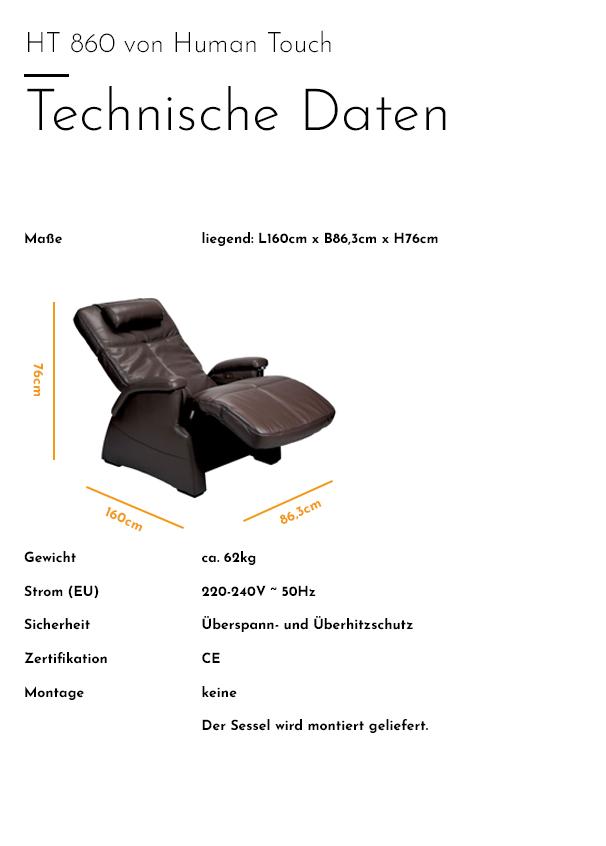 Human Touch - HT 860 - Technische Daten