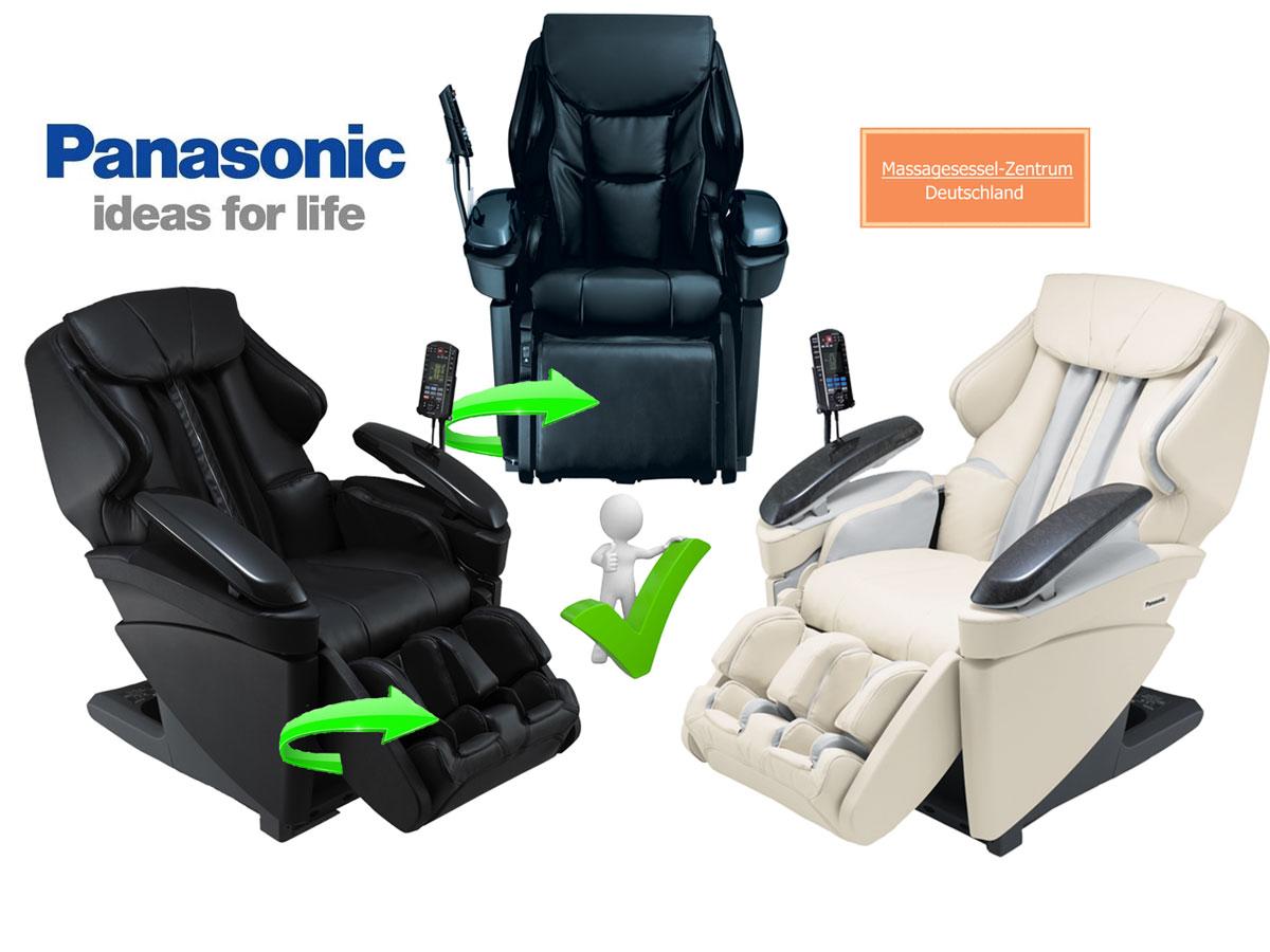 Massagesessel Panasonic EP-MA-70 Farbe beige + schwarz +drehbares Fußteil