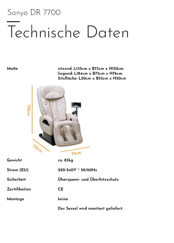 Sanyo - DR 7700 - Technische Daten