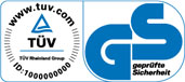 TÜV und GS Zertifikat