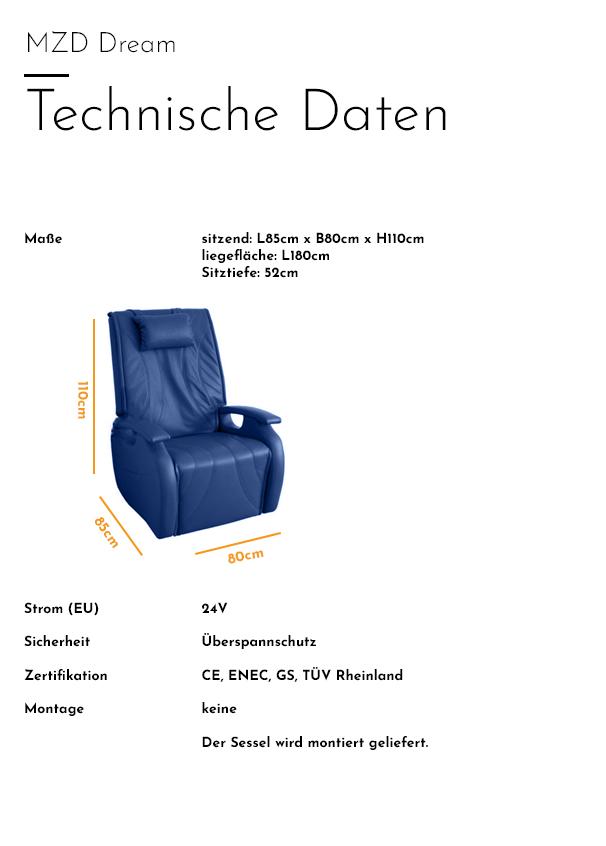 MZD - Dream - Technische Daten
