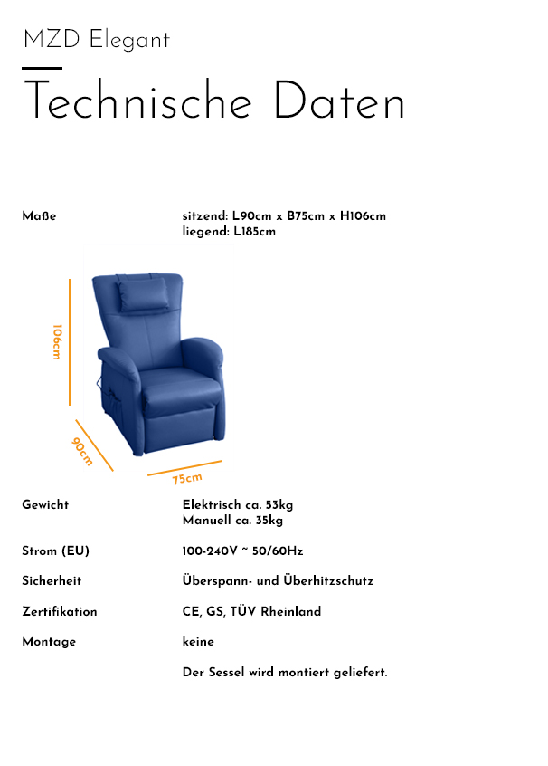 MZD - Elegant - Technische Daten