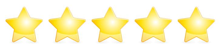 5 Sterne Bewerting