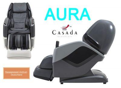 Casada Massagesessel Aura Farbe grau schwarz