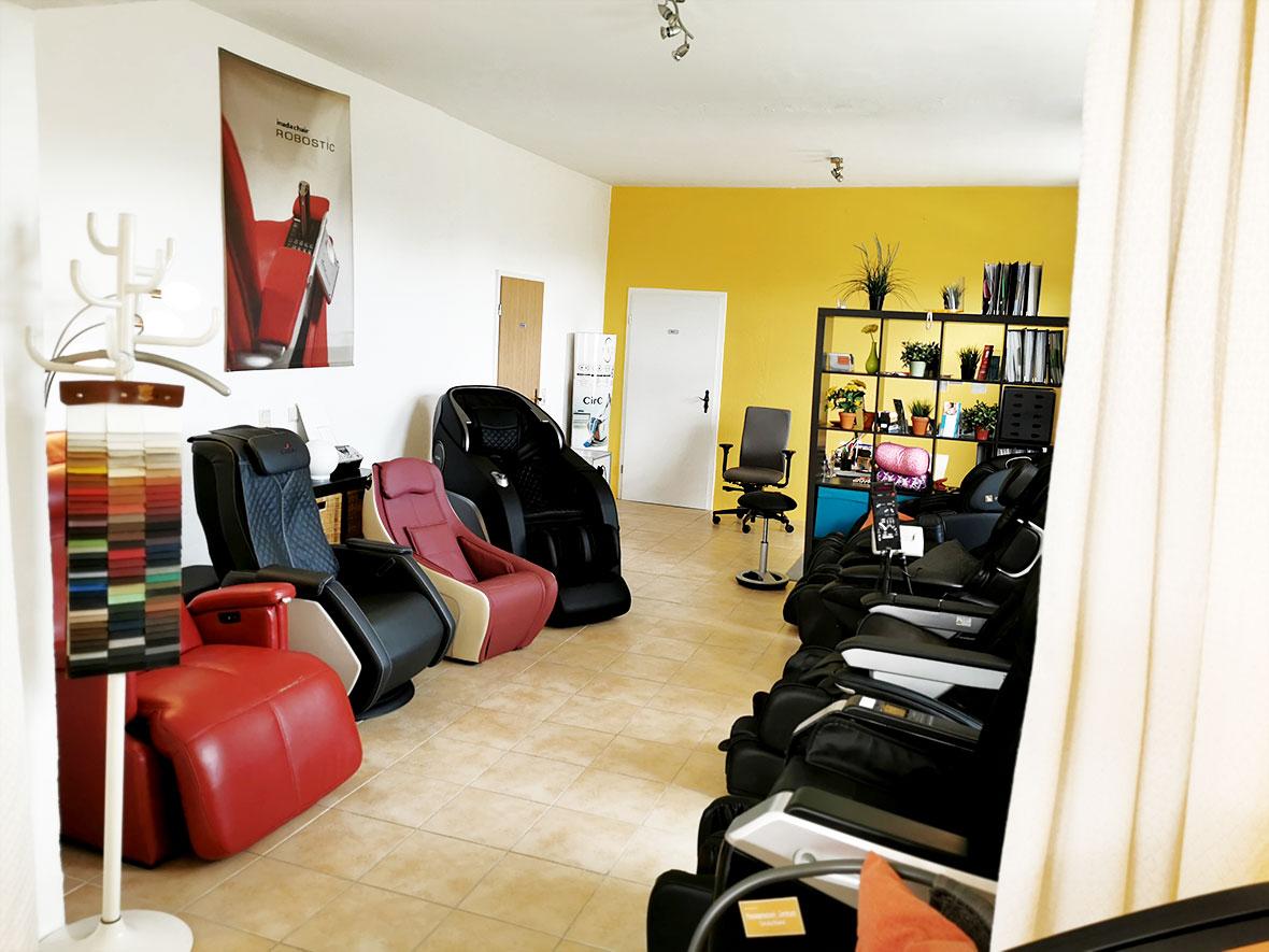 Massagesessel Ausstellung